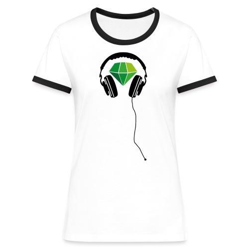 Gruenschwarz Kopfhörer png - Frauen Kontrast-T-Shirt
