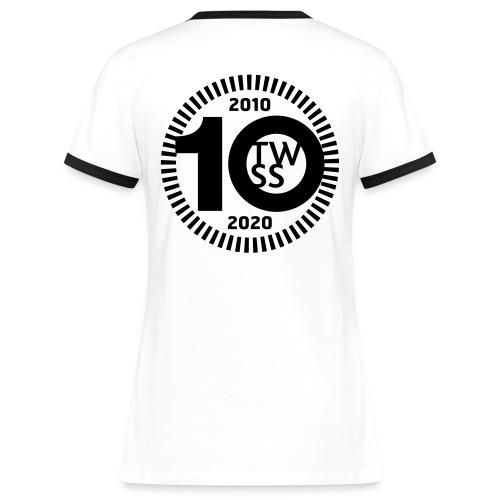 TWSS 10-jähriges Jubiläumslogo - Frauen Kontrast-T-Shirt