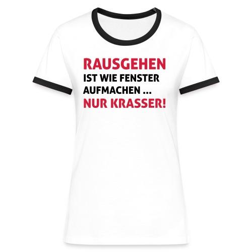 Fenster aufmachen - Frauen Kontrast-T-Shirt