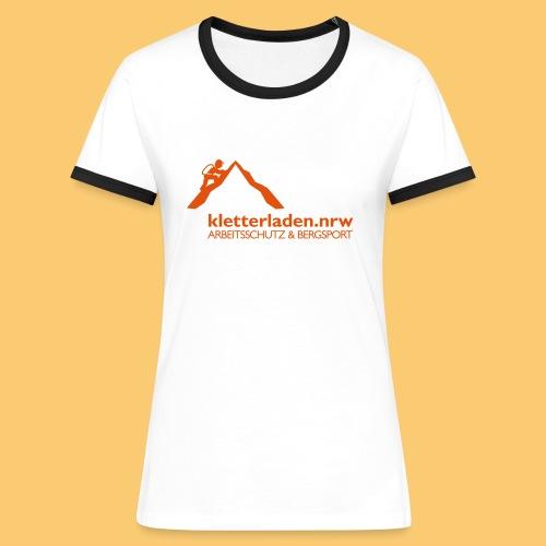 Logo mit Subline_kletterl - Frauen Kontrast-T-Shirt