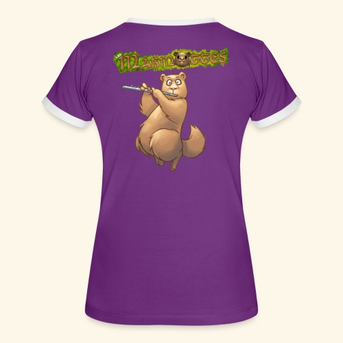 Tshirt Flute dos 2 - T-shirt contrasté Femme