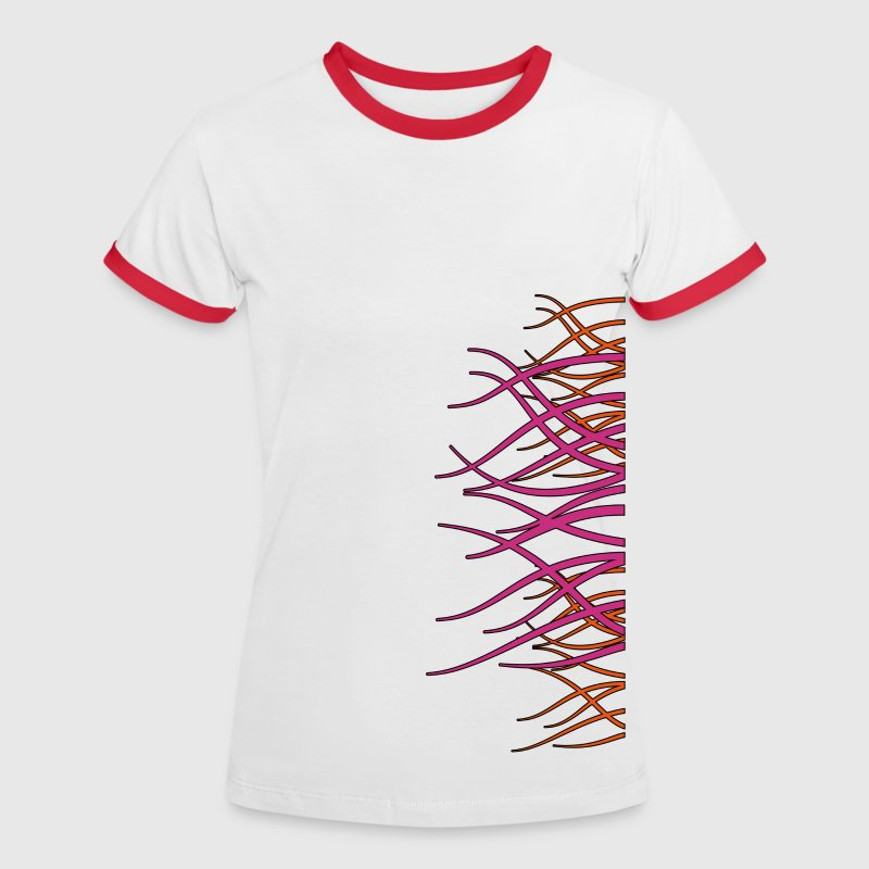 forest_purple_outline - Vrouwen contrastshirt