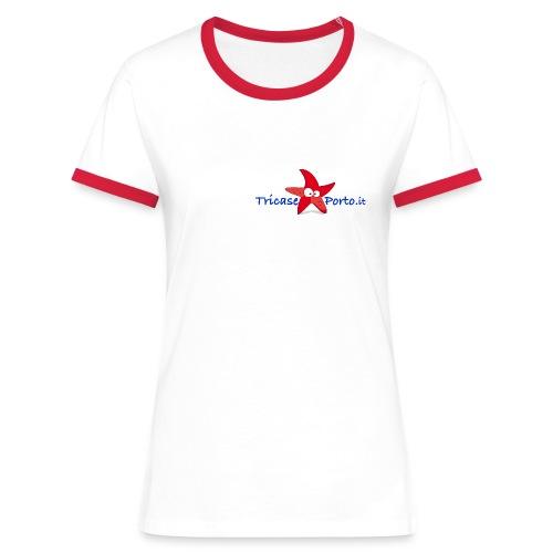 StarfishNew blue - Maglietta Contrast da donna