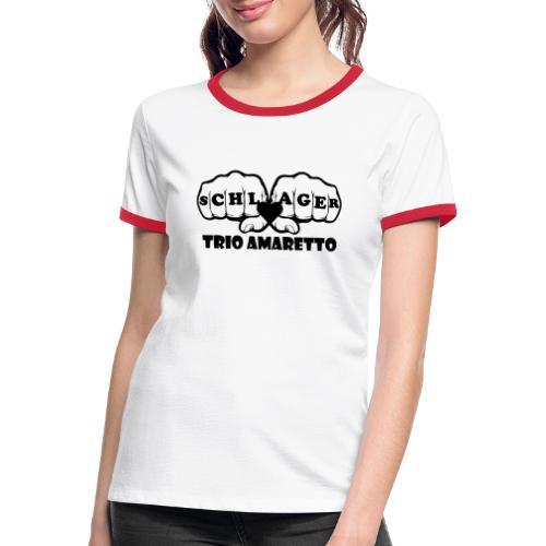 Black Print Trio Amaretto - Frauen Kontrast-T-Shirt