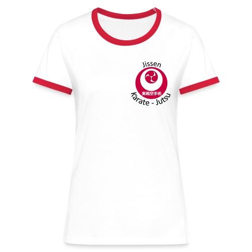 Jissen Karate Jutsu - Dame kontrast-T-shirt