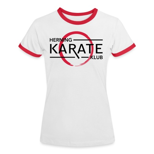 HKK Sort - Dame kontrast-T-shirt