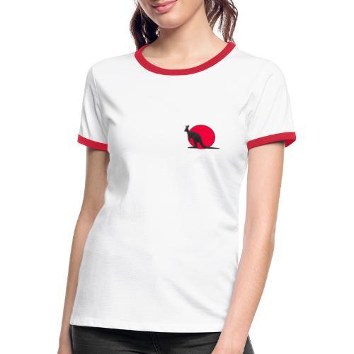 Silhouette Canguro2 - Maglietta Contrast da donna