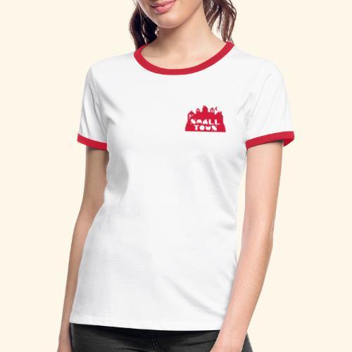 Small Town - Kontrast-T-skjorte for kvinner