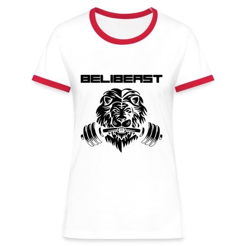BELIB PNG BLACK - T-shirt contrasté Femme