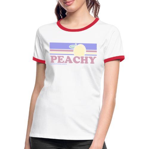 PEACHY 80 - Frauen Kontrast-T-Shirt