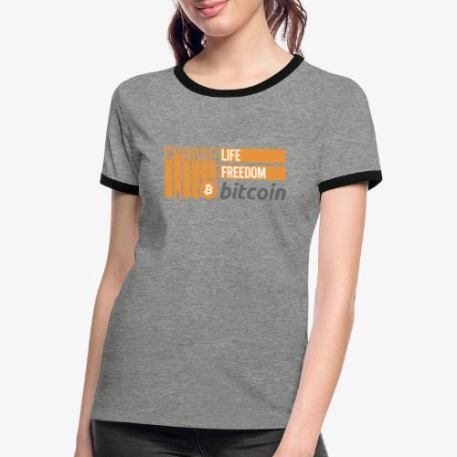 Bitcoin - T-shirt contrasté Femme