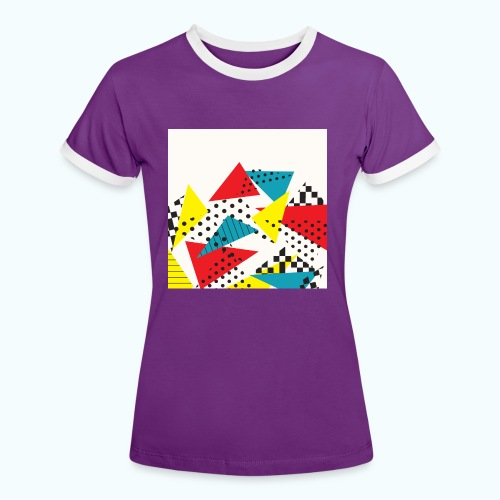 Abstract vintage collage - Women's Ringer T-Shirt
