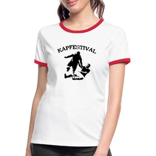 Kapfestival - Kontrast-T-shirt dam