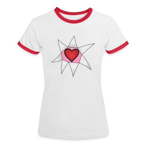 Chestbursting Heart - Frauen Kontrast-T-Shirt