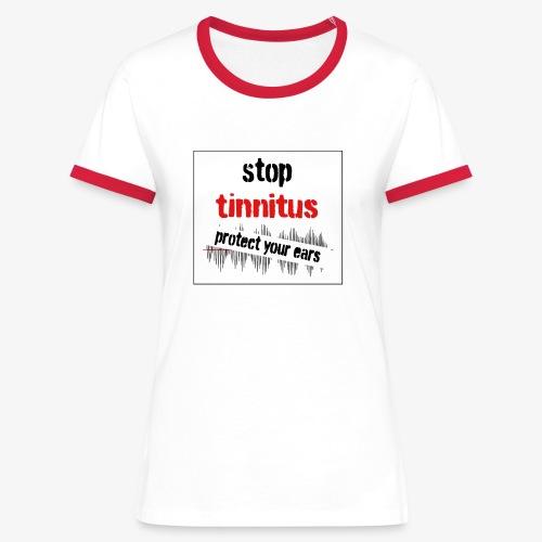 Tinnitus shirt - Vrouwen contrastshirt