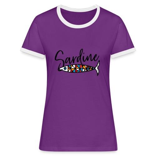 Sardine colorate all'amo - Maglietta Contrast da donna