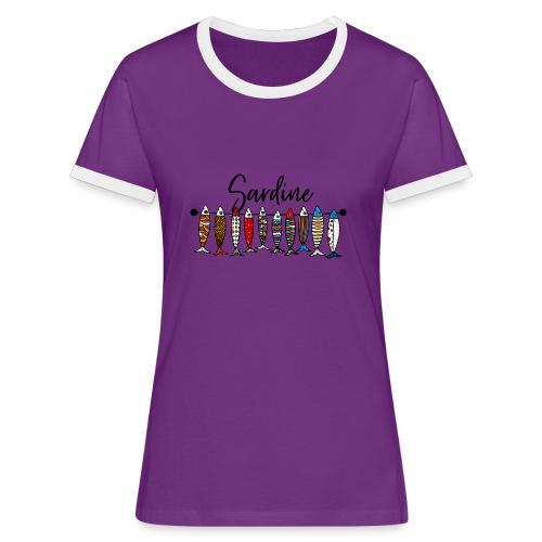 Sardine colorate - Maglietta Contrast da donna