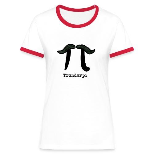 tronderpi png - Kontrast-T-skjorte for kvinner