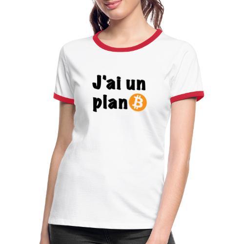 plan Btc - T-shirt contrasté Femme