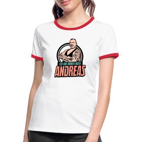 Immer-Noch-Andreas-Logo BUNT - Camiseta contraste mujer