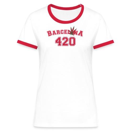 Barcelonaleaf 420 - Women's Ringer T-Shirt