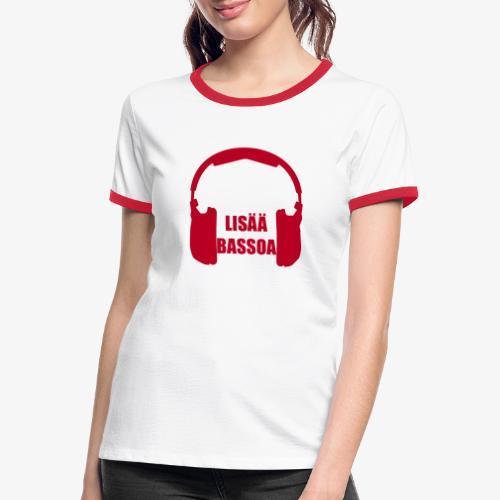 lisääbassoa - Kontrast-T-shirt dam