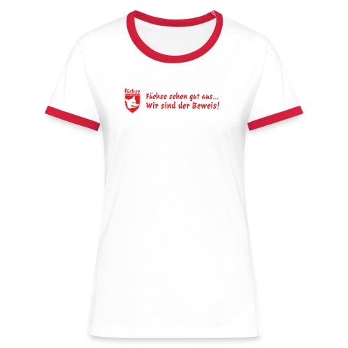 fuechse sehen gut aus - Frauen Kontrast-T-Shirt