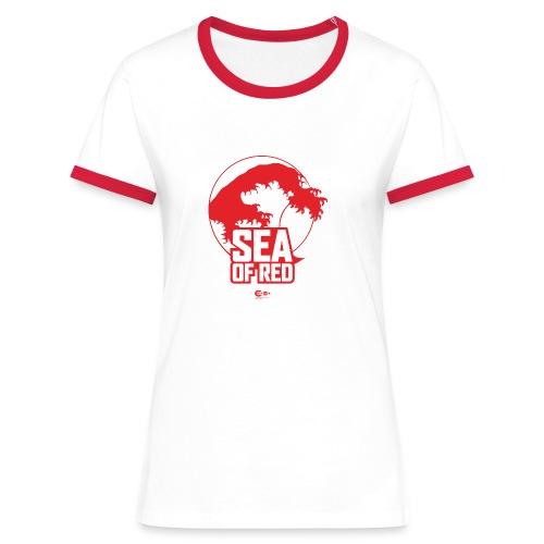 Sea of red logo - red - Women's Ringer T-Shirt
