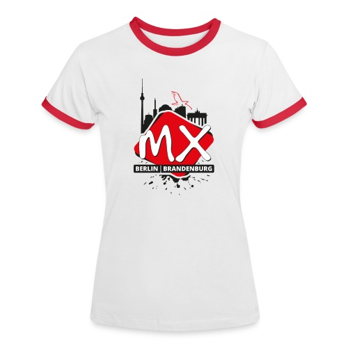 mxbb - Frauen Kontrast-T-Shirt