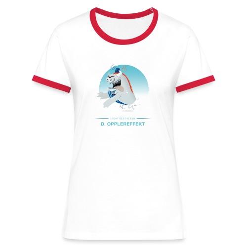 D. Opplereffekt - Frauen Kontrast-T-Shirt