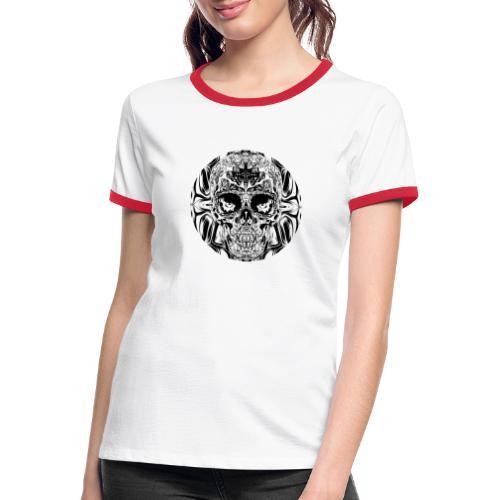 skull SW - Frauen Kontrast-T-Shirt