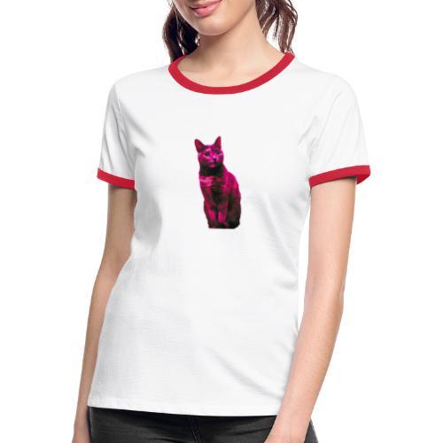 Gatto - Maglietta Contrast da donna