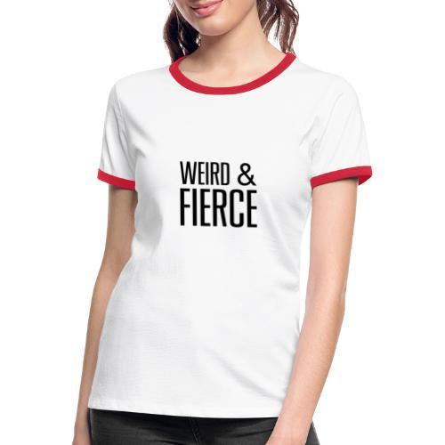 WEIRD - T-shirt contrasté Femme
