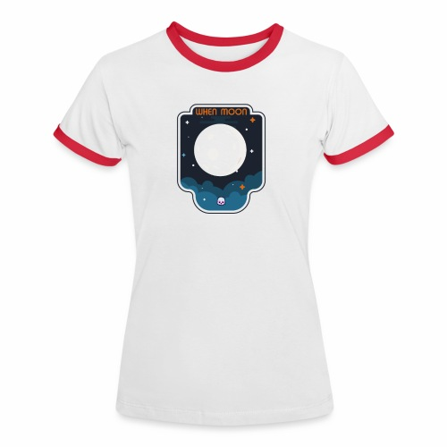 CryptoLoco - When moon - T-shirt contrasté Femme