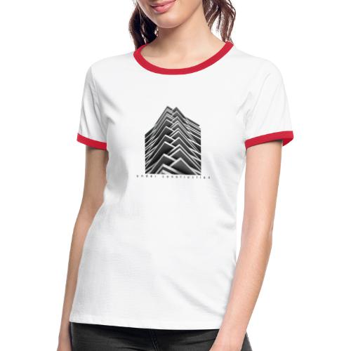 Under Construction - Vrouwen contrastshirt