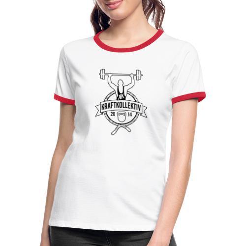 Logo_clean_invert_black - Frauen Kontrast-T-Shirt