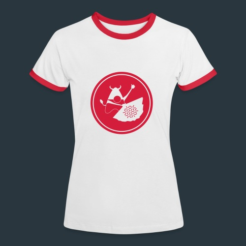 min - T-shirt contrasté Femme