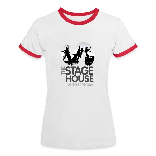 the stage house logo artwork performance - Women's Ringer T-Shirt
