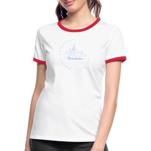 Hannover Skyline Linie - Frauen Kontrast-T-Shirt