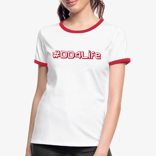 DD4Life - Kontrast-T-shirt dam