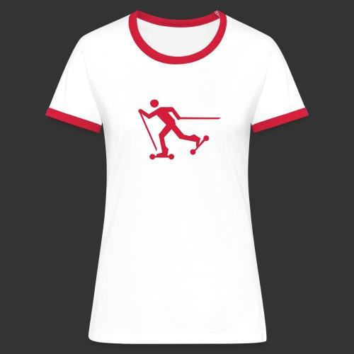 Nordic Skating - Frauen Kontrast-T-Shirt