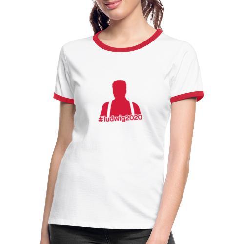 Ludwig Silhouette - Frauen Kontrast-T-Shirt