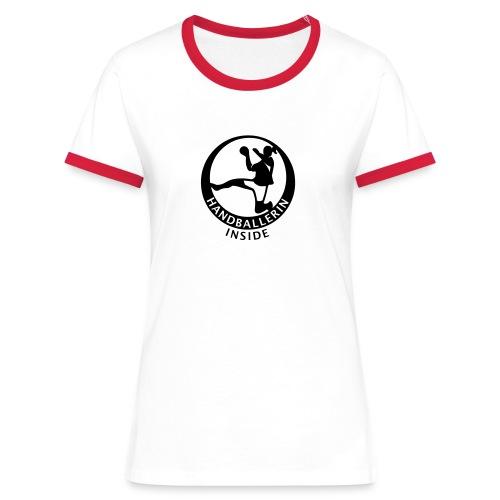 Handballerin inside - Frauen Kontrast-T-Shirt