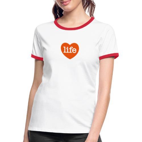 LOVE LIFE heart - Women's Ringer T-Shirt