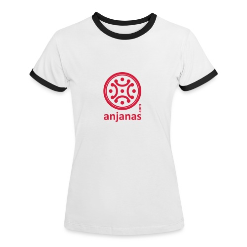 anjanas rojo - Camiseta contraste mujer