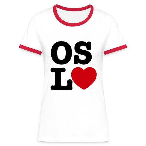 Oslove - OSL♥ - Kontrast-T-skjorte for kvinner