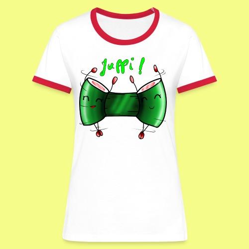 Sushi rollen - Frauen Kontrast-T-Shirt