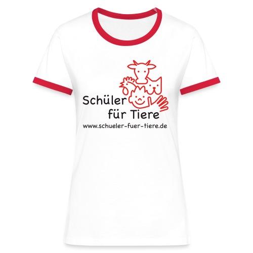 Logo Farbe (2x) - Frauen Kontrast-T-Shirt