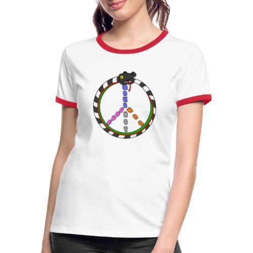 Bill Snakespeare Peace and Love - Women's Ringer T-Shirt