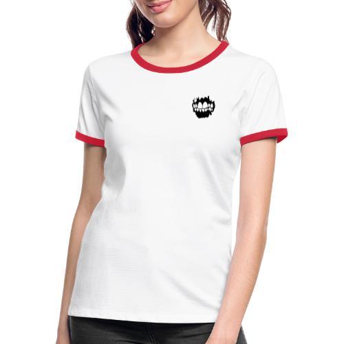 Lowlife - Logotyp - Kontrast-T-shirt dam
